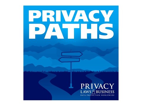 Privacy paths - 2 paths winding off to the mountains